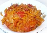 Салат из болгарского перца, помидоров, лука и моркови