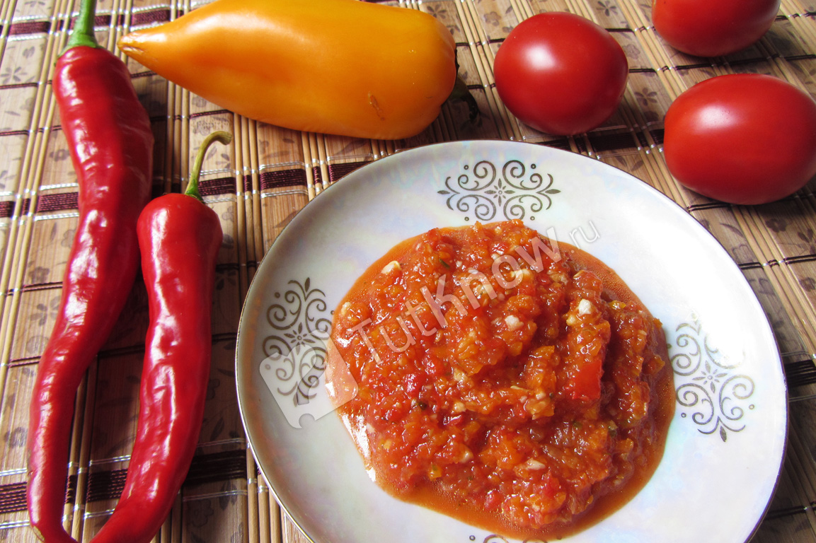 рецепт аджики с красных помидор