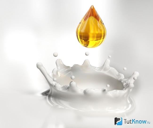 Проверка меда молоком