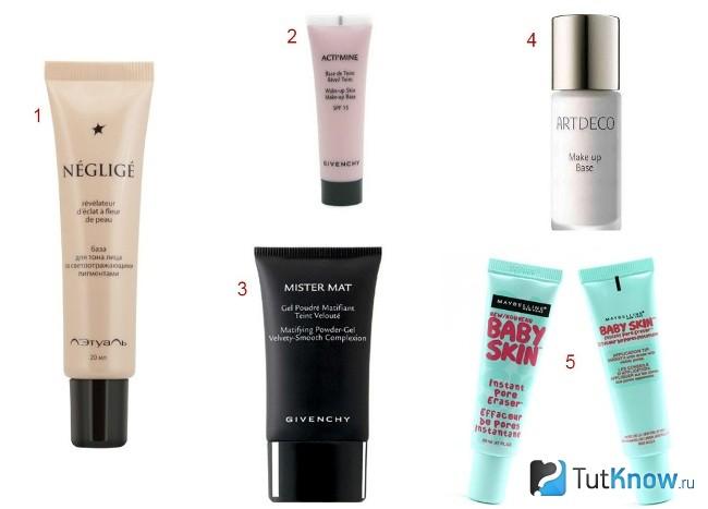 популярные базы под макияж