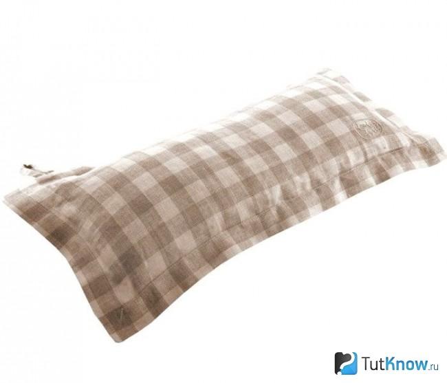 Подголовник для банных процедур из ткани
