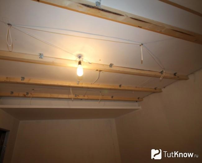 Как быстро сделать подвесной потолок