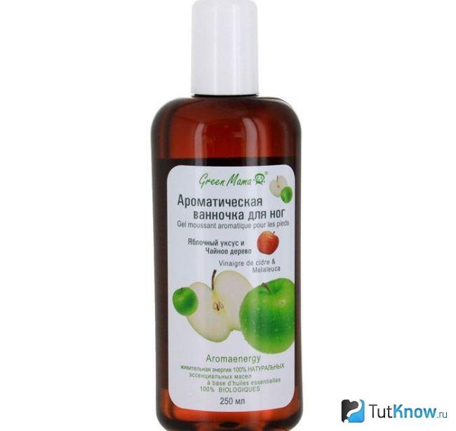Яблочный уксус от потливости ног ванночка