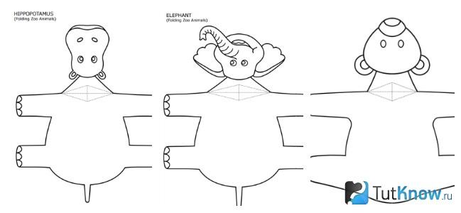Заготовки других зверей для оригами