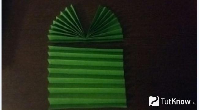 Изготовление стебелька тюльпана из бумаги