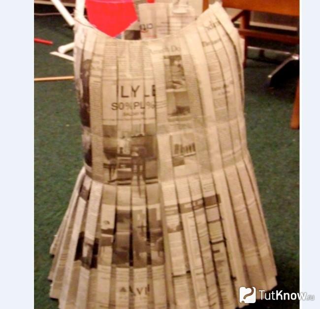 Верхняя часть и юбка платья