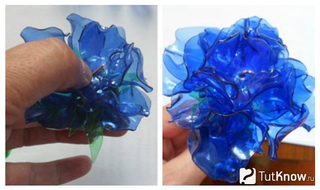 Изготовление цветка из заготовок