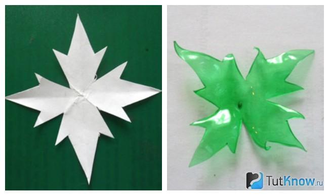 Заготовка зеленого цвета для лепестков цветка