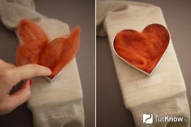 Изготовление заплатки в виде сердца