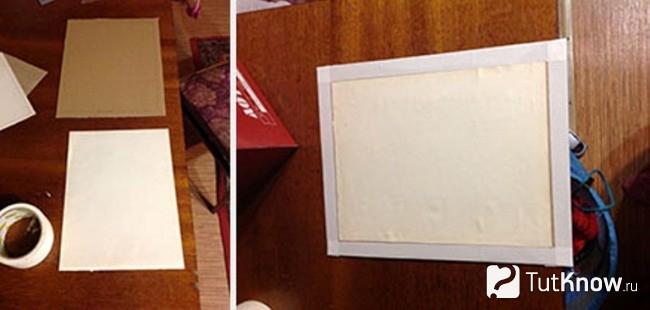 Как оклеить картон бумагой