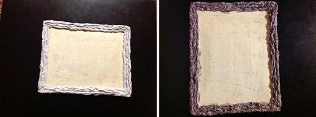 Рамка для картины из туалетной бумаги