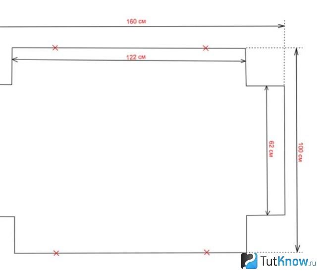 Схема выкройки комплекта на кроватку
