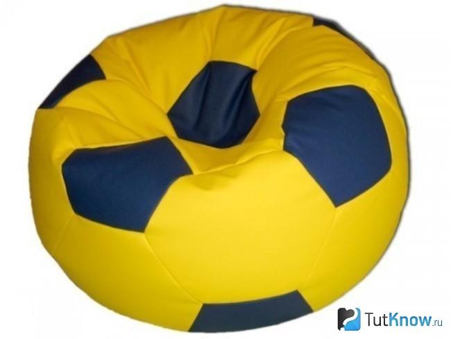 Пуфик-мешок в форме мяча