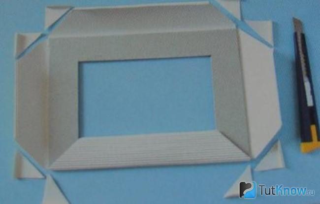 Рамка для фото с из картона
