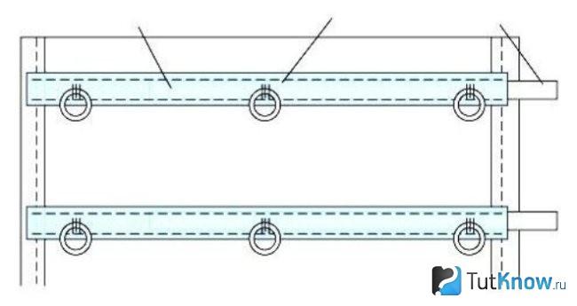 Схема для креплений римских штор
