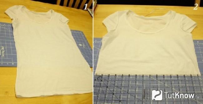 Обрезанная для платья футболка