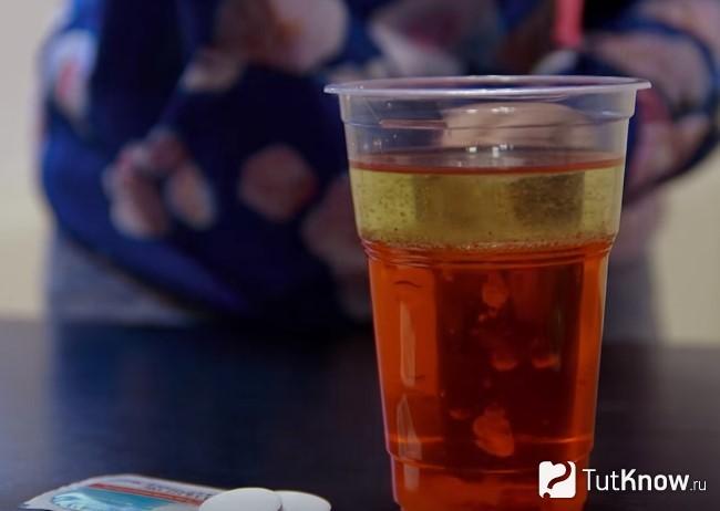 Вода и растительное масло