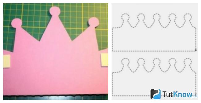 Шаблоны для изготовления короны из бумаги
