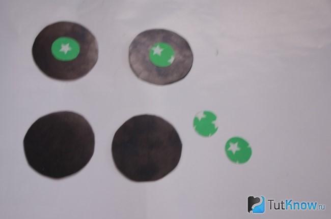 Заготовки колес картонной коляски