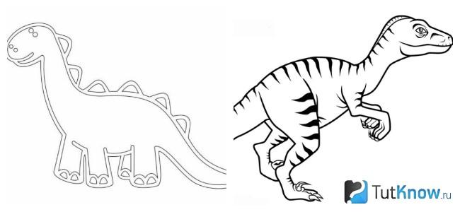 Шаблоны динозавров