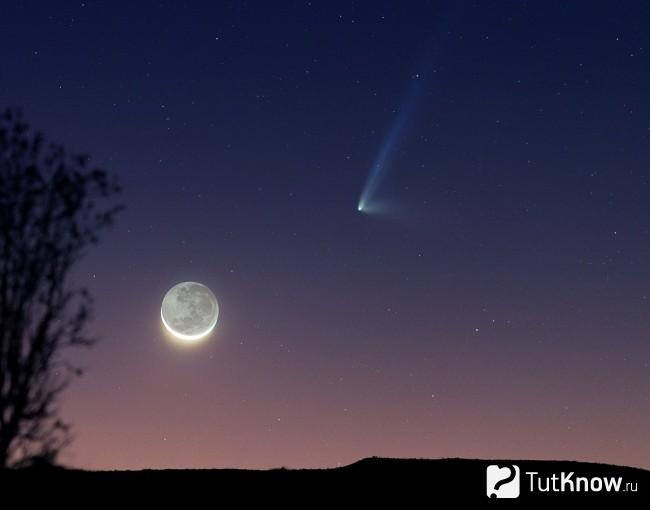 Как выглядит комета