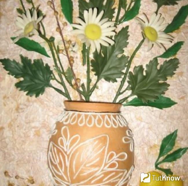 Приклеивание цветов резиновым герметиком