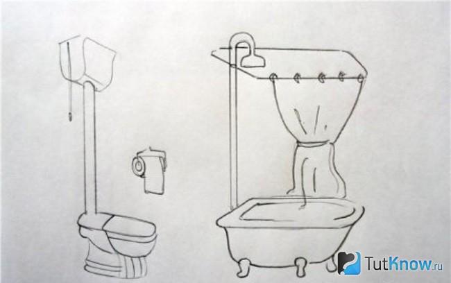Рисунок для обозначения санузла