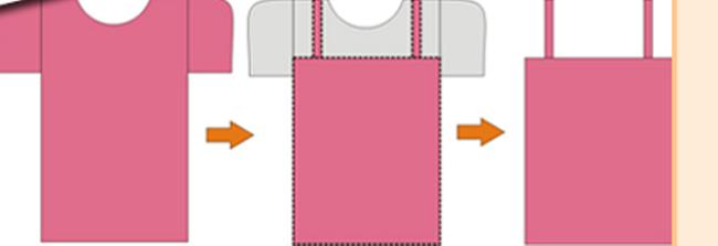 Обрезание рукавов и части футболки для платья
