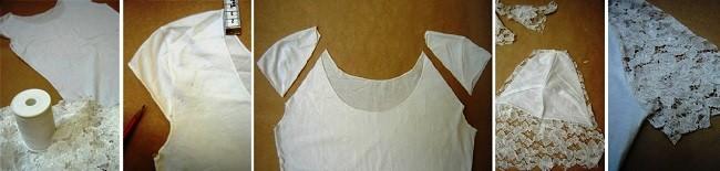 Подготовка и перевоплощение рукавов футболки