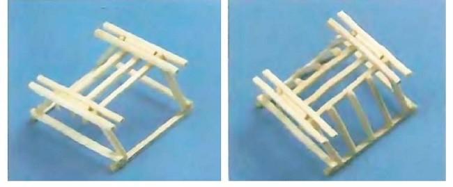 Усиление каркаса телеги из спичек