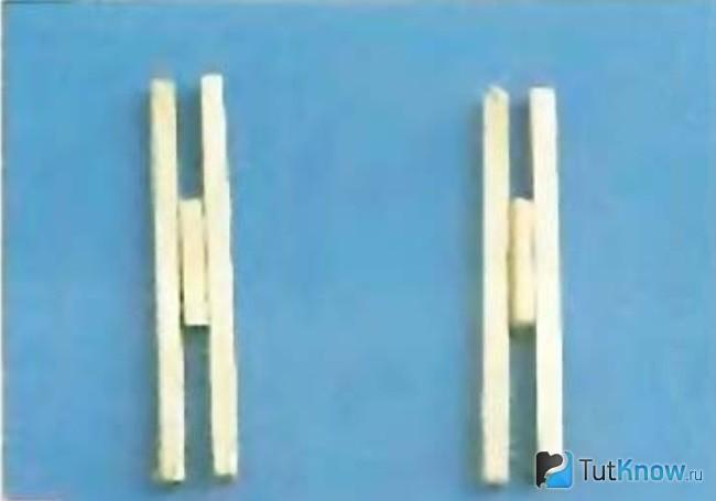 Заготовки для каркаса телеги из спичек