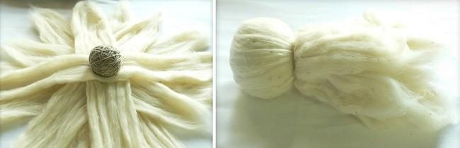 Подготовка шерсти для изготовления вальдорфской куклы