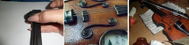 Формиррование струн скрипки для коллажа