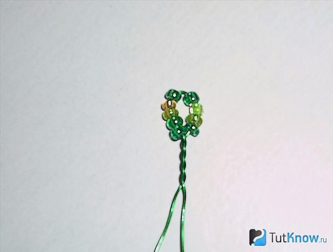 Плетение одного берёзового листика