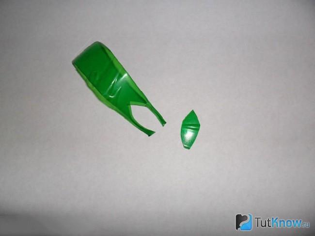 Заготовка из пластиковой бутылки для листа берёзы