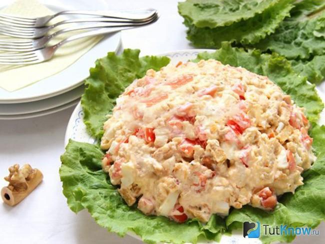 рецепт салата каприз с курицей фото