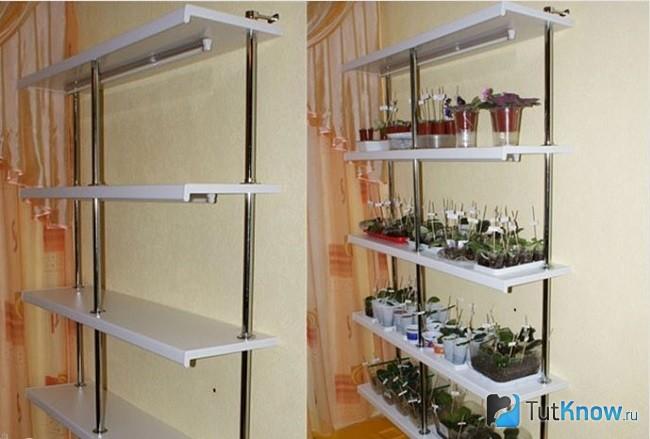 Пластиковая этажёрка для цветов