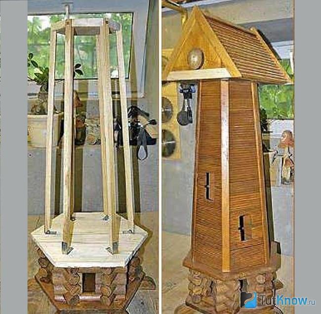 Готовая башня мельницы