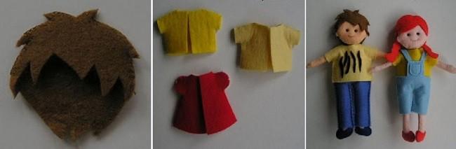 Одежда из фетра для кукол