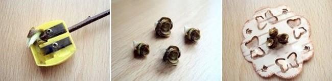 Розы из берёзовой коры