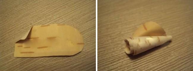 Формирование бутона из бересты