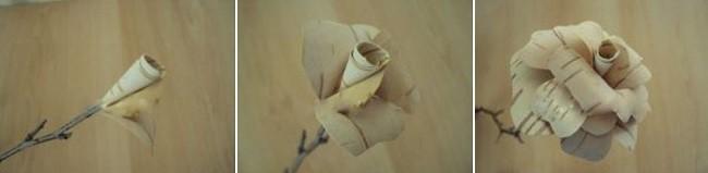 Цветок из бересты