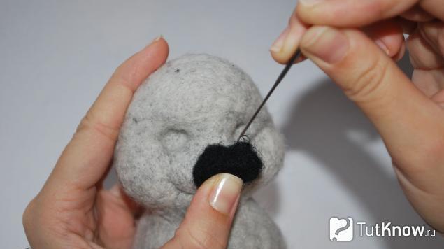 Формирование кончика носа ёжика