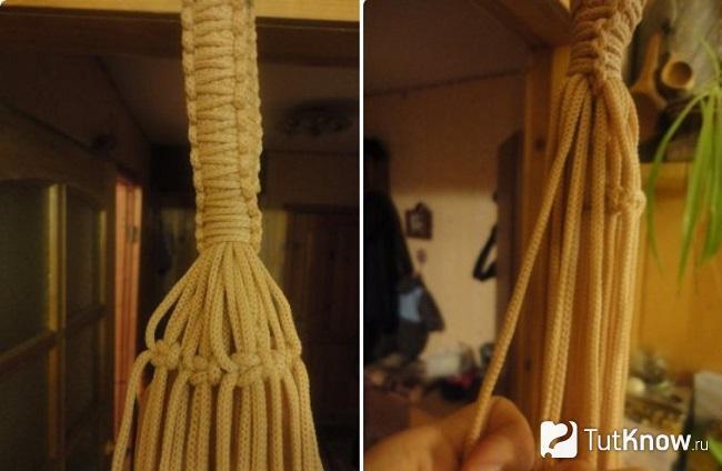 Плетение колокольчика для кресла