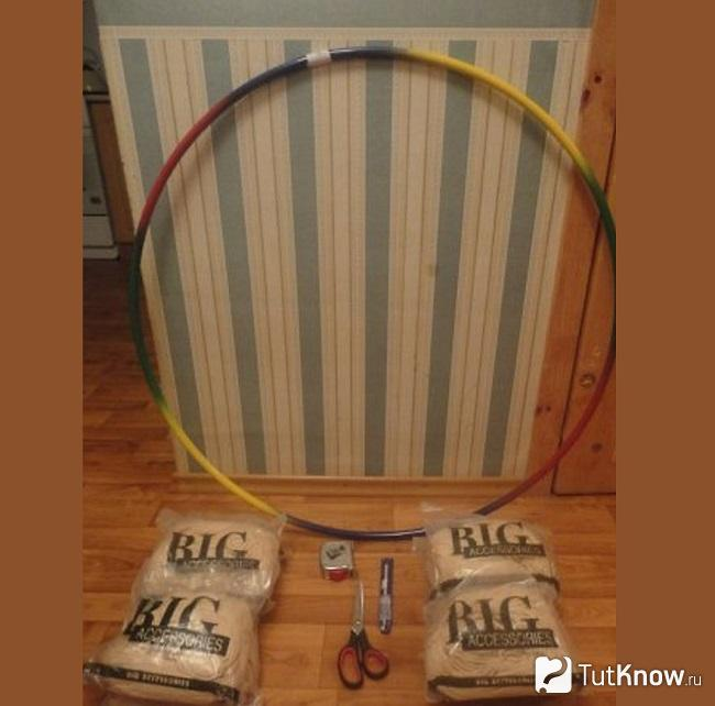 Материалы для плетенного подвесного кресла-гамака