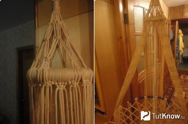 Пошаговое плетение спинки кресла