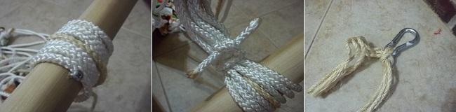Фиксация верёвок на палке