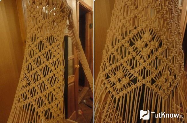 Рисунок плетения спинки кресла