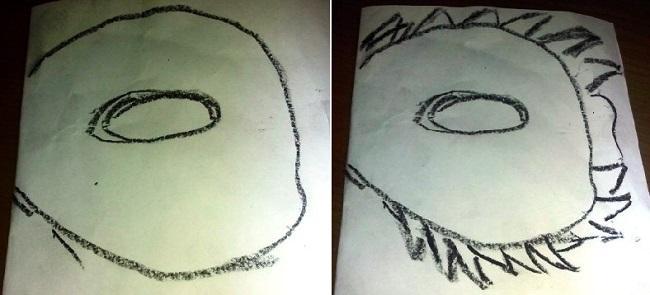 Шаблон маски воробья
