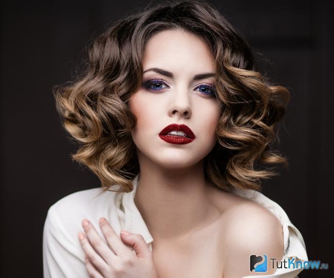 Окрашивание балаяж на средних волосах
